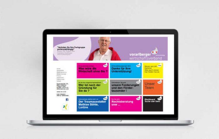 Webdesign - Vorarlberger Wirtschaftsverband
